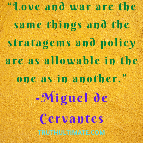 Everything is fair in love and war quotes: